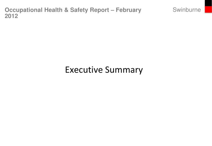 occupational health safety report february 2012