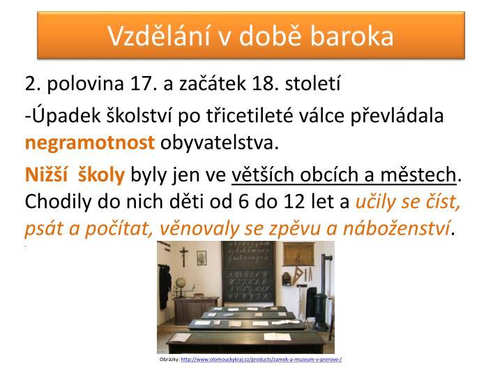 Vzdělání v době baroka