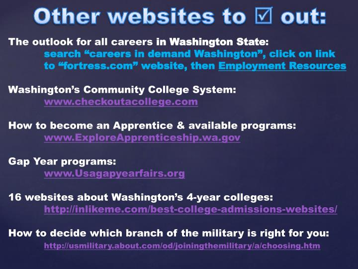 Other websites to