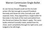 warren commission single bullet theory