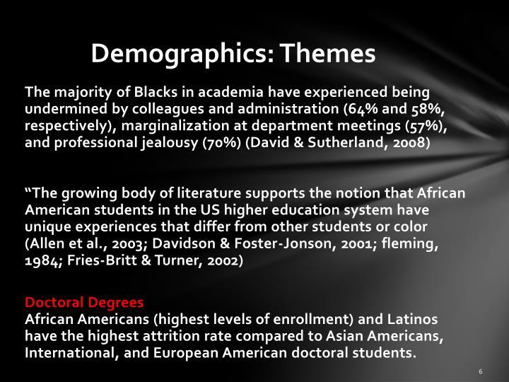 Demographics: Themes