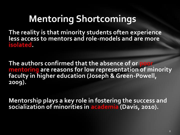 Mentoring Shortcomings