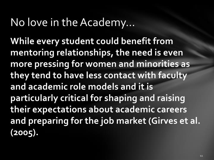 No love in the Academy…