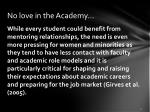 no love in the academy