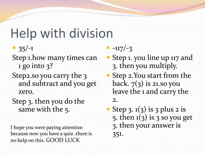 Help with division