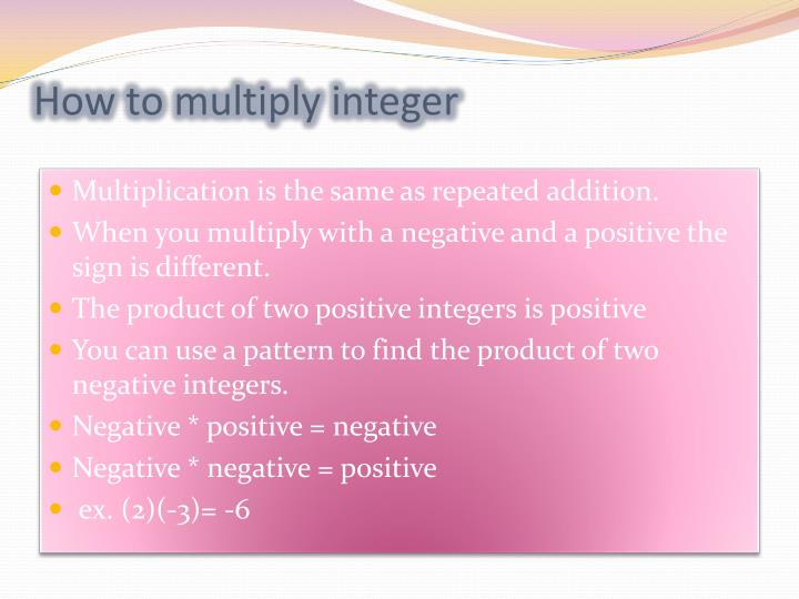 How to multiply integer