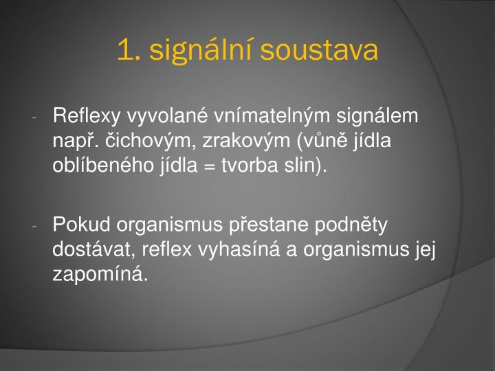 1. signální soustava