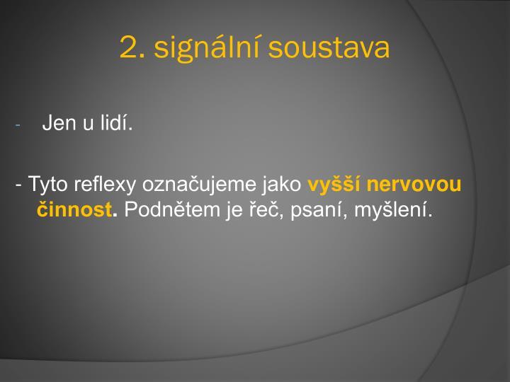 2. signální soustava