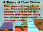 a theory of plate motion1