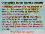 convection in the earth s mantle