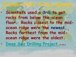 evidence from drilling samples