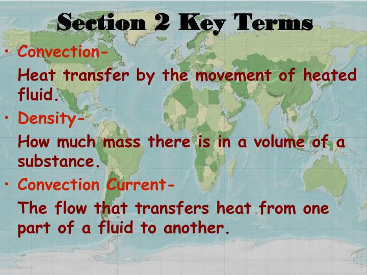 Section 2 Key Terms