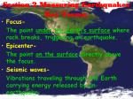 section 2 measuring earthquakes key terms