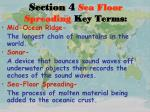 section 4 sea floor spreading key terms