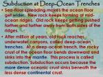 subduction at deep ocean trenches