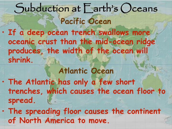 Subduction at Earth's Oceans