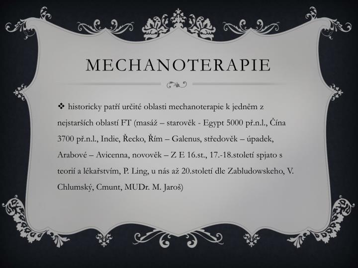 Mechanoterapie