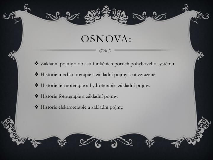 Osnova: