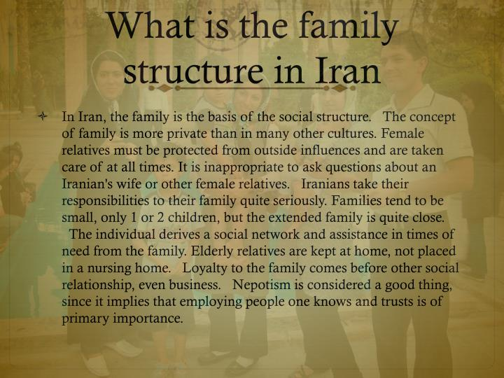 What is the family structure in Iran