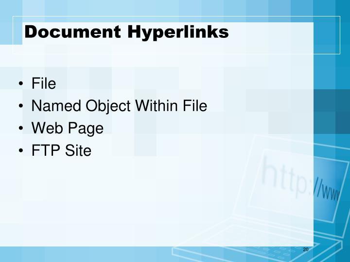 Document Hyperlinks