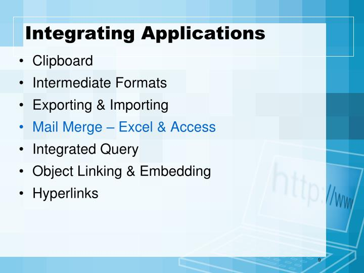 Integrating Applications