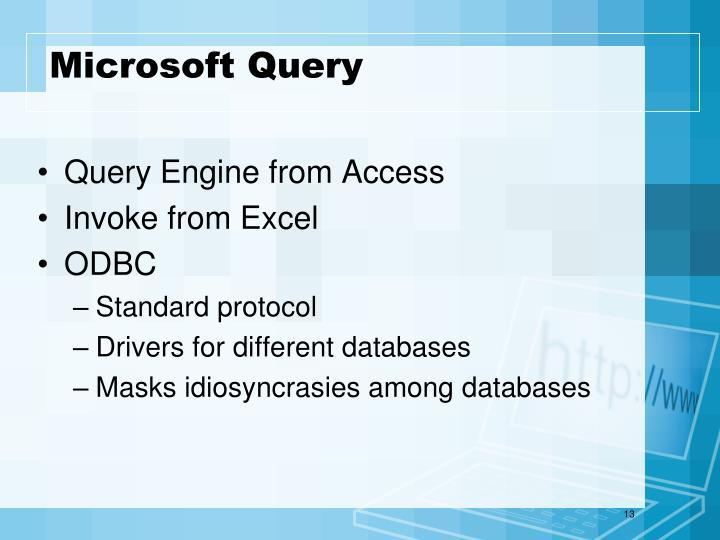 Microsoft Query