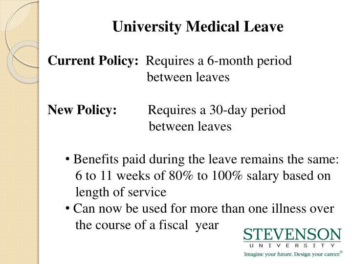 University Medical Leave