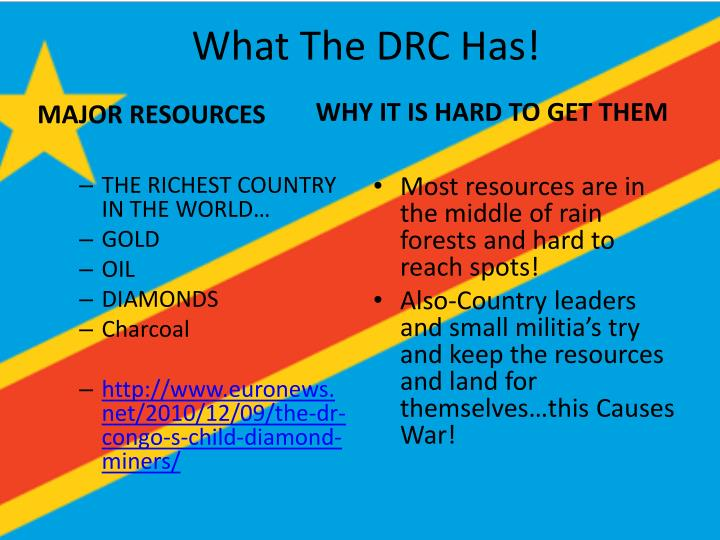 What The DRC Has!