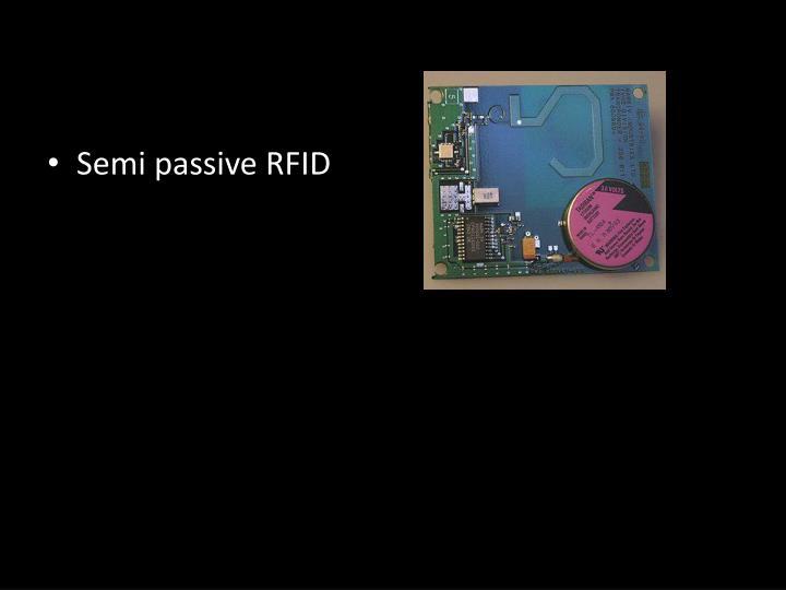 Semi passive RFID