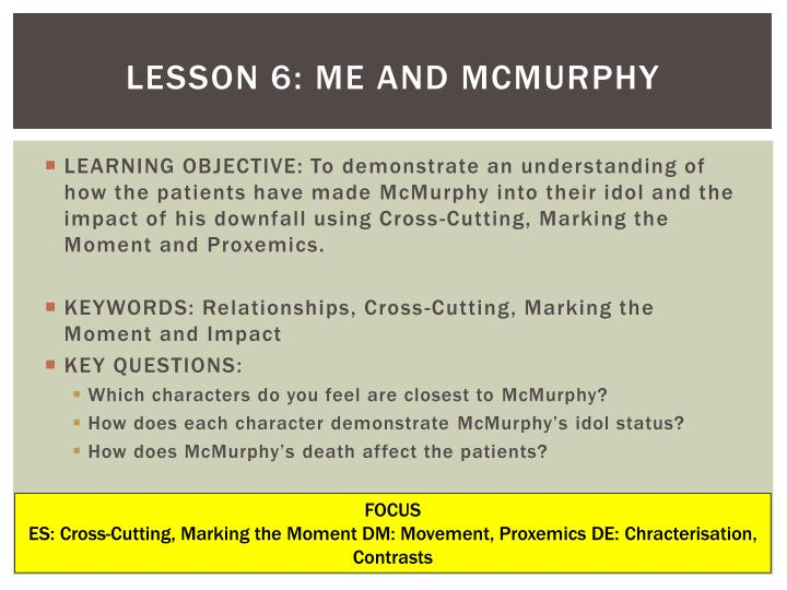 Lesson 6: Me and McMurphy