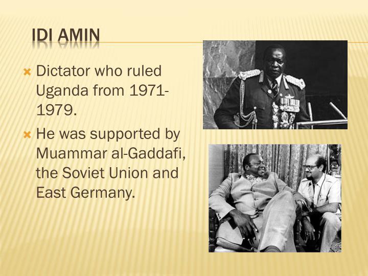 Dictator who ruled Uganda from 1971-1979.