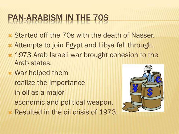 Started off the 70s with the death of Nasser.