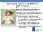 bezpieczne korzystanie z energii elektrycznej