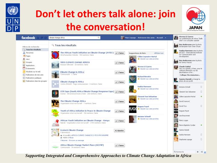 Don't let others talk alone: join the conversation!