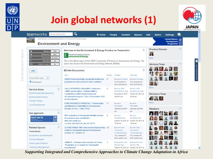 Join global networks (1)