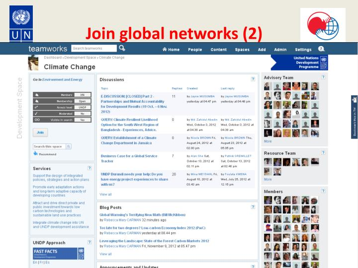 Join global networks (2)