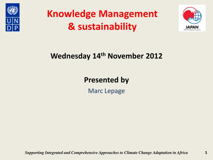 Knowledge management sustainability