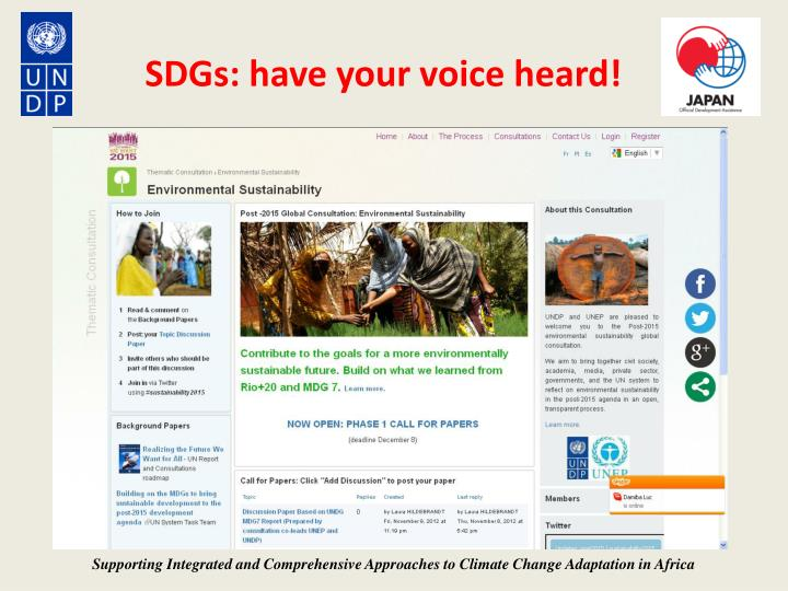 SDGs: have your voice heard!