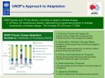 undp s approach to adaptation