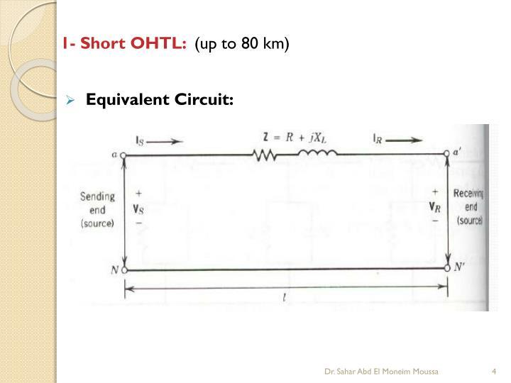 1- Short OHTL: