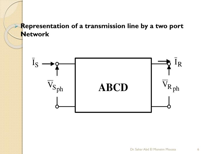Representation of a transmission line by a two port