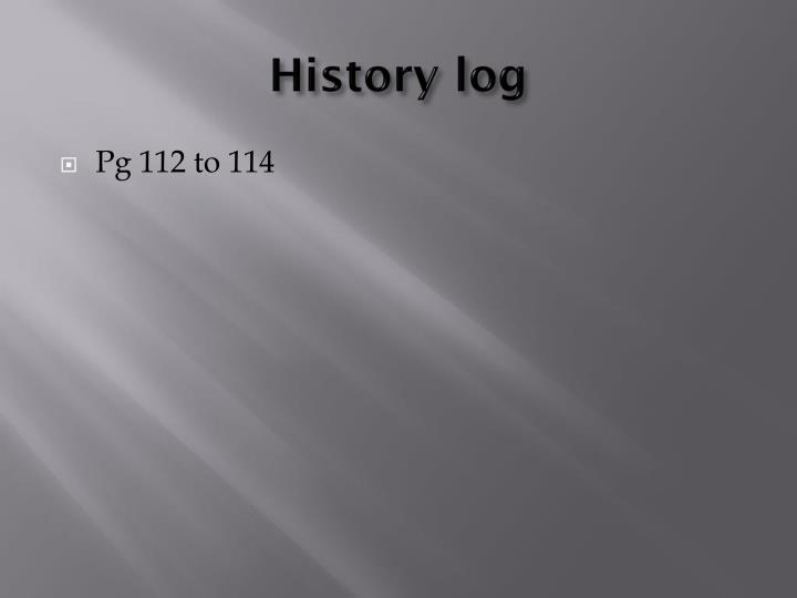 History log