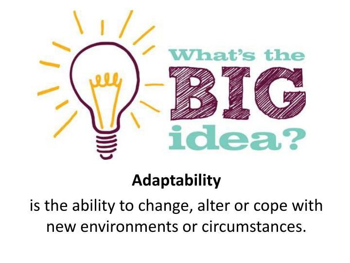 adaptability is the ability to change alter or cope with new environments or circumstances