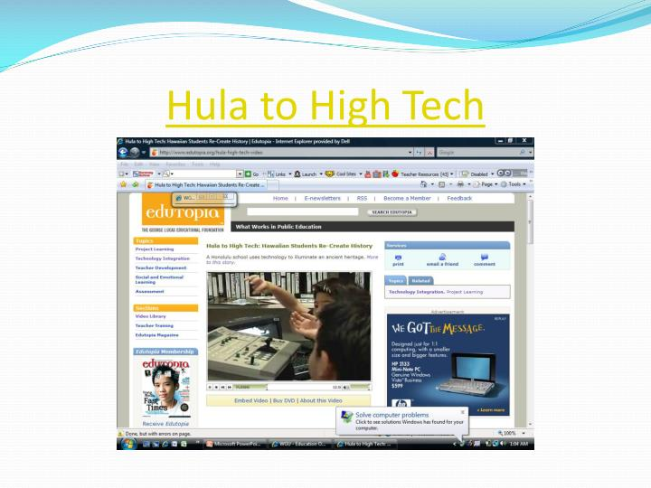 Hula to High Tech
