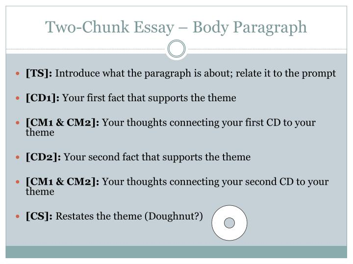 Two-Chunk Essay – Body Paragraph