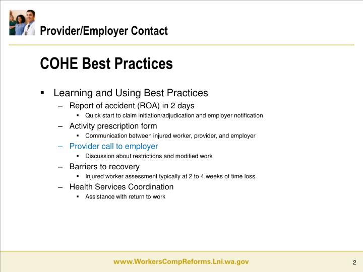 Provider employer contact1