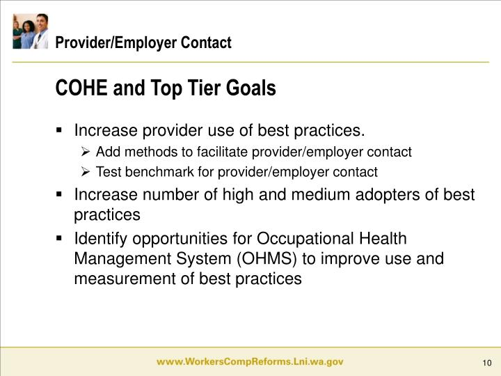 Provider/Employer Contact