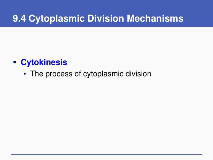 9.4 Cytoplasmic Division Mechanisms