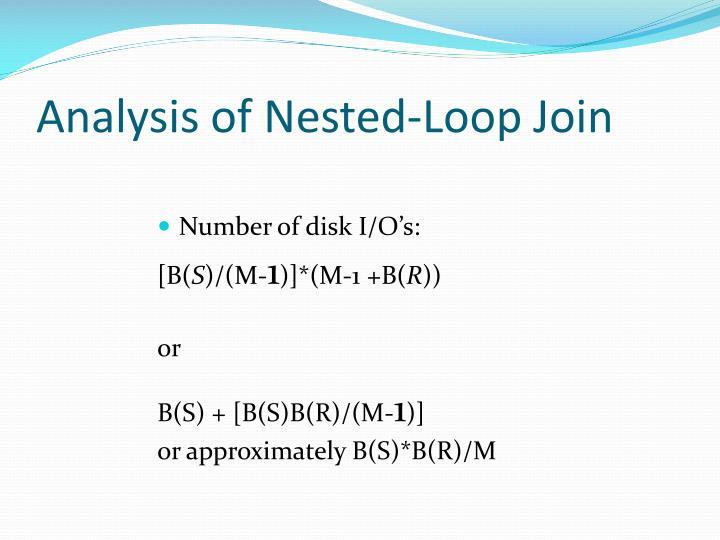 Analysis of Nested-Loop Join