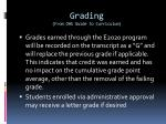 grading from ohs guide to curriculum